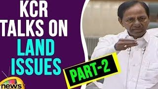 KCR Talks On Land Issues | Part 2 | Telangana Assembly | Mango News - MANGONEWS