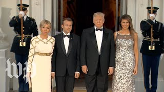 Trumps welcome France's Macrons for state dinner - WASHINGTONPOST