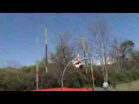 18' pole vault attempt from a high schooler