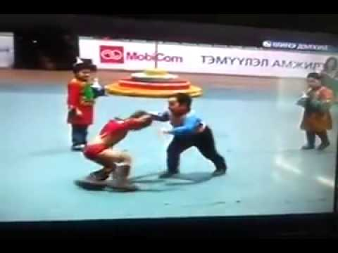 Future Champion of Mongolian National Wrestler (Child)...Бөх хүн бүдүүн өвсөнд..kkk