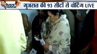 Gujarat elections Phase 2: Polling begins, ex-CM Anandiben Patel casts vote from Naranpura - INDIATV