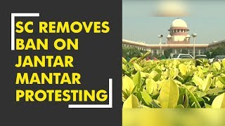 SC removes ban on protesting on Jantar Mantar - ZEENEWS
