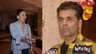 Kareena Kapoor Khan & Karan Johar spotted at Manish Malhotra House Party - ZOOMDEKHO