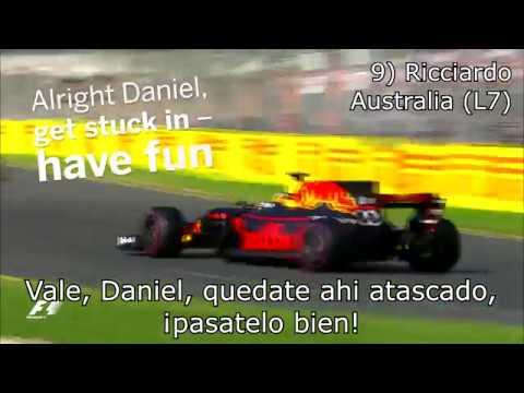 : Las 10 mejores conversaciones de F1 - del año 2017