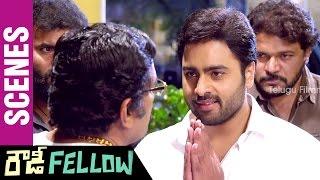 Rowdy Fellow Telugu Movie Scenes | Nara Rohit Hammers Rao Ramesh | Vishakha Singh | Sunny MR - TELUGUFILMNAGAR