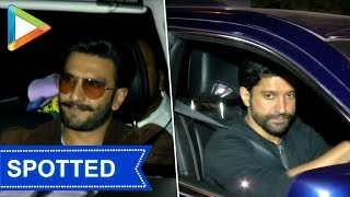 SPOTTED: Ranveer Singh at Farhan Akhtar's house - HUNGAMA