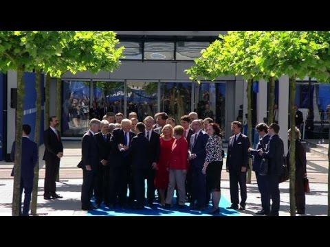 Bruxelles: Macron arrive au sommet de l'Otan