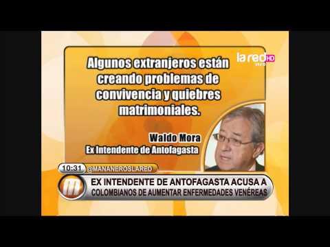Ex intendente de Antofagasta culpa a colombianos de aumentar enfermedades venéreas