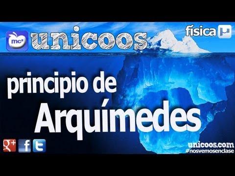 Principio de Arquimedes 01 1ºBACHI unicoos fisica hidrostatica empuje
