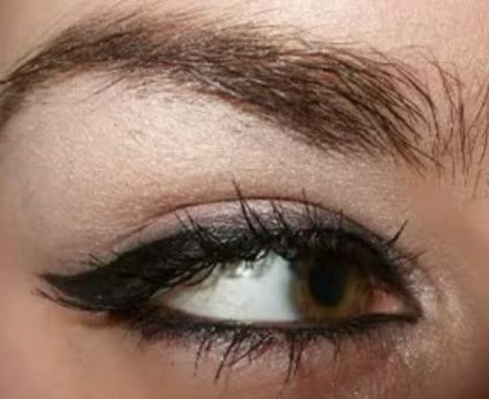 Rihanna & Angelina Jolie cat eyeliner eye make up tutorial