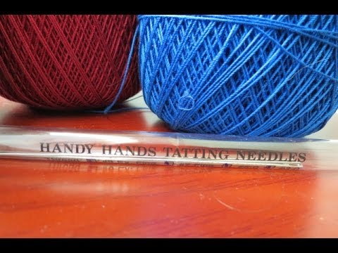 Needle tatting needles and thread info for beginners