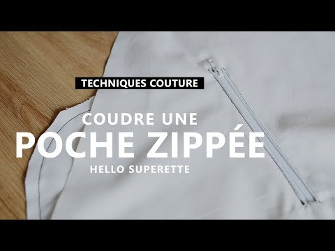 COUDRE UNE POCHE ZIPPÉE - TUTO COUTURE TECHNIQUE