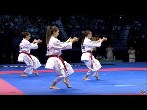 Karate Female Team Kata Bronze Medal - Serbia vs Italy - WKF World Championships Belgrade 2010 (1/2) - اتفرج تيوب