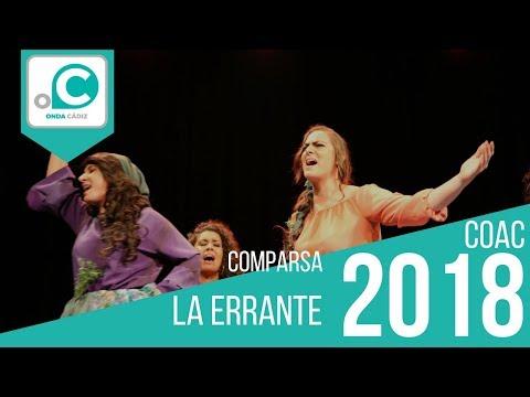 La agrupación La errante llega al COAC 2018 en la modalidad de Comparsas. Primera actuación de la agrupación para esta modalidad.