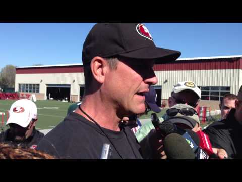 Jim Harbaugh talks about WR competition