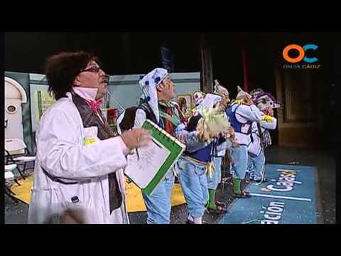 Sesión de Cuartos de final, la agrupación El que entra no sale actúa hoy en la modalidad de Chirigotas.
