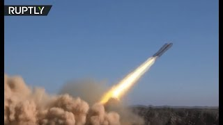 Syrian Arab Army battle ISIS militants in the Tulul al-Safa region, Syria - RUSSIATODAY
