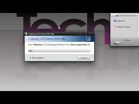 How to Install Windows 7 from a USB Flash Drive - TechneekTV