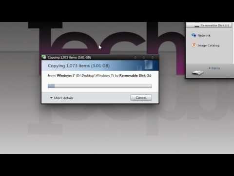 How to Install Windows 7 from a USB Flash Drive - TechneekTV