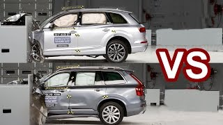 2016 Volvo XC90 Vs 2017 Audi Q7 - Crash Test