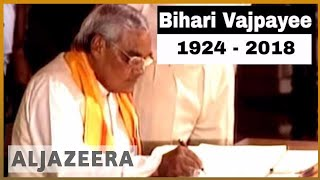 🇮🇳 Former Indian PM Atal Bihari Vajpayee dies | Al Jazeera English - ALJAZEERAENGLISH