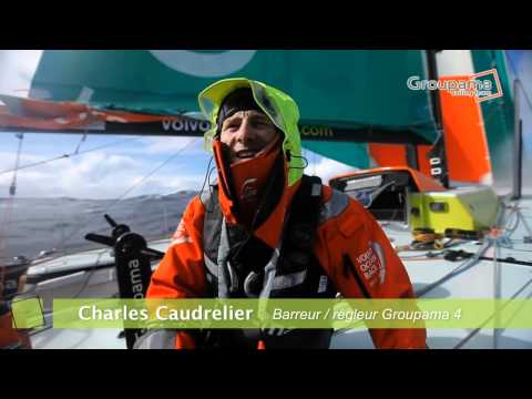 Charles Caudrelier - VOR12 &#8211; Etape 5 &#8211; Dernire accalmie avant le Cap Horn