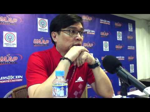 UAAP Season 77 Post-Match Press Conference - UE vs Adamson (July 19)