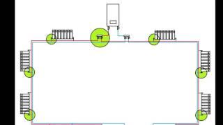 Двухтрубная система отопления, разные схемы (схема Тихельмана)