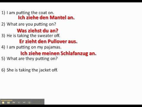 Work with anziehen/ausziehen/tragen - www.germanforspalding.org