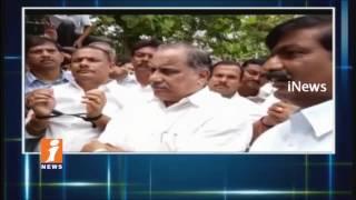 Mudragada Padmanabham Protest After Police Stops His Padayatra | Kirlampudi | iNews - INEWS