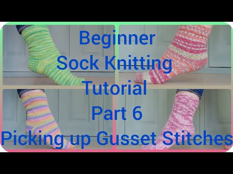 Sock knitting tutorial ( pick up stitches) part 5