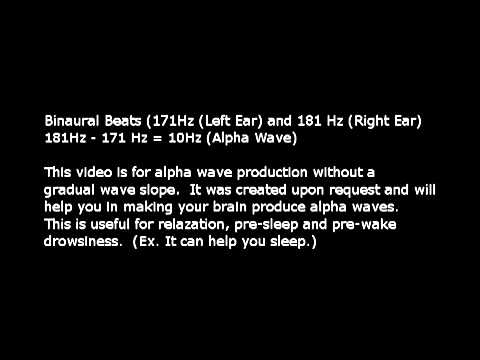 Pure Binaural Beats - Alfa brain waves.