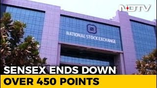Sensex Closes 463 Points Lower, Nifty Holds 10,300 - NDTV