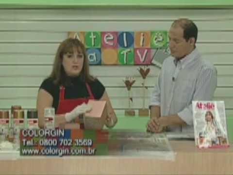 Colorgin no Ateliê na TV - Metalização de caixa de MDF