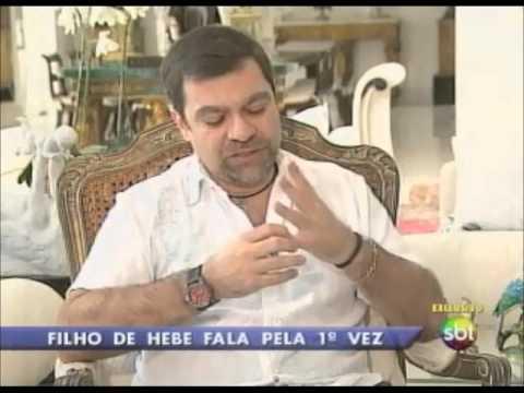 Roberto Cabrini entrevista filho de Hebe Camargo