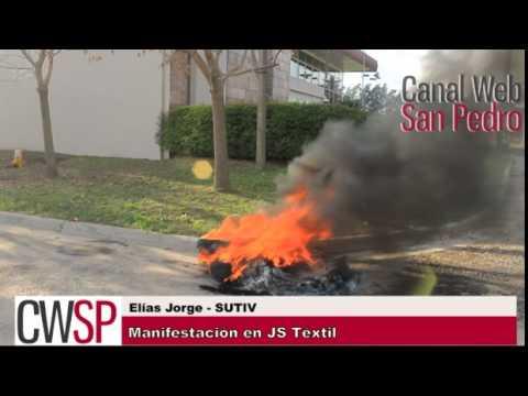 Manifestación JS Téxtil