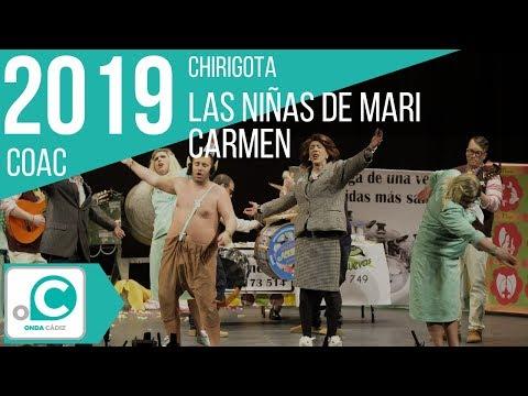 Sesión de Preliminares, la agrupación Las niñas de Mª Carmen actúa hoy en la modalidad de Chirigotas.