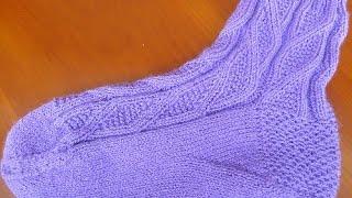 Как вязать клин подъема носка  Вариант 2