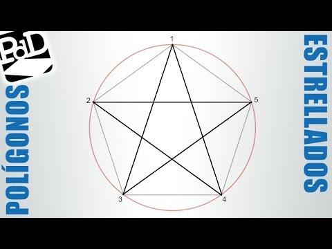 Polígono estrellado de 5 puntas, pentágono estrellado (Polígonos estrellados - Estrellas)