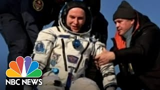Space Station Astronauts Touch Down After Months Orbiting Earth | NBC News - NBCNEWS