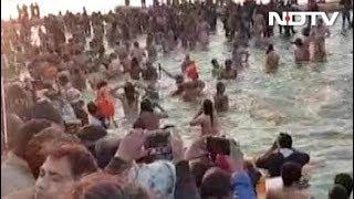 कुंभ में अखाड़ों का शाही स्नान शुरू - NDTVINDIA