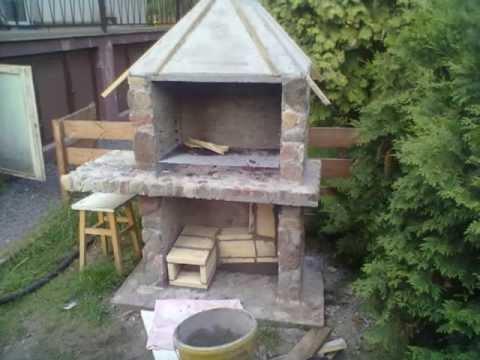 Budowa grilla wędzarni z kamienia polnego