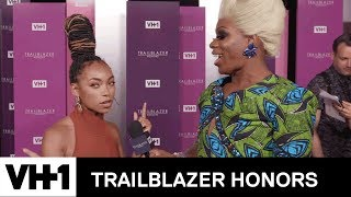 Logan Browning & Cast of 'Pose' Reveal Favorite Season of American Horror Story | Trailblazer Honors - VH1