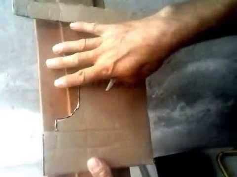 Cómo hacer molduras de yeso y concreto (Elaborando una tarraja)
