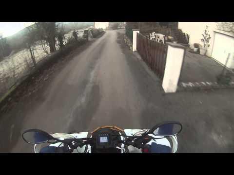 Go pro HD Shineray xy 250 stxe routes de campagne fin de rodage