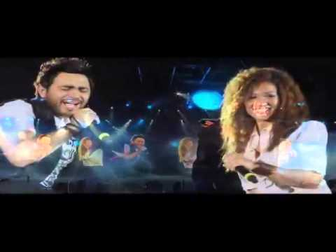Tamer Hosny FT Aliaa Hosny   Etman   English subtitled      تامر حسني و علياء   اطمن