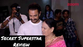 Secret Superstar REVIEW |Aamir Khan's Mom Talks On Her Son's Movie - ZOOMDEKHO