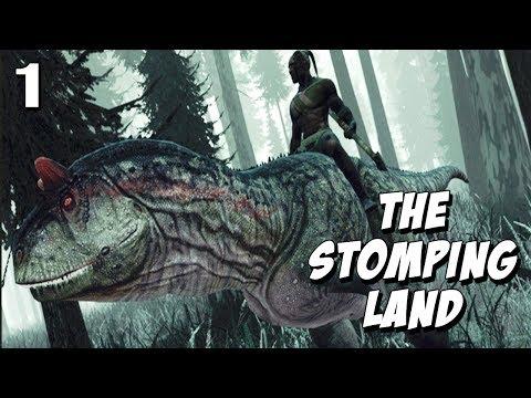 The Stomping Land #1 - Caçando Dinossauros e me prendi na Jaula !?