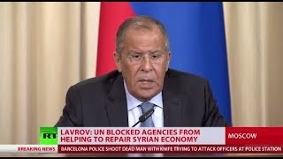 UN Secretariat secretly prohibits agencies from restoring Syria's economy - Lavrov - RUSSIATODAY