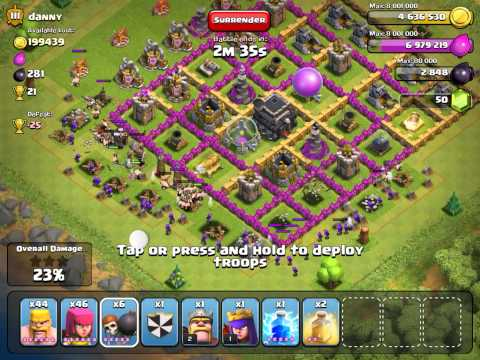 Clash of Clans  ATTACK STRATEGY barbarians and archers pt.8
